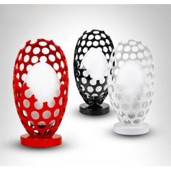 Lámpara CRATER de sobremesa fabricada en cristal y polipropileno