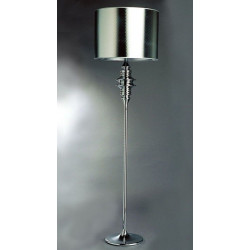 Lámpara CHOISY-TP de pie cromada con pantalla plateada