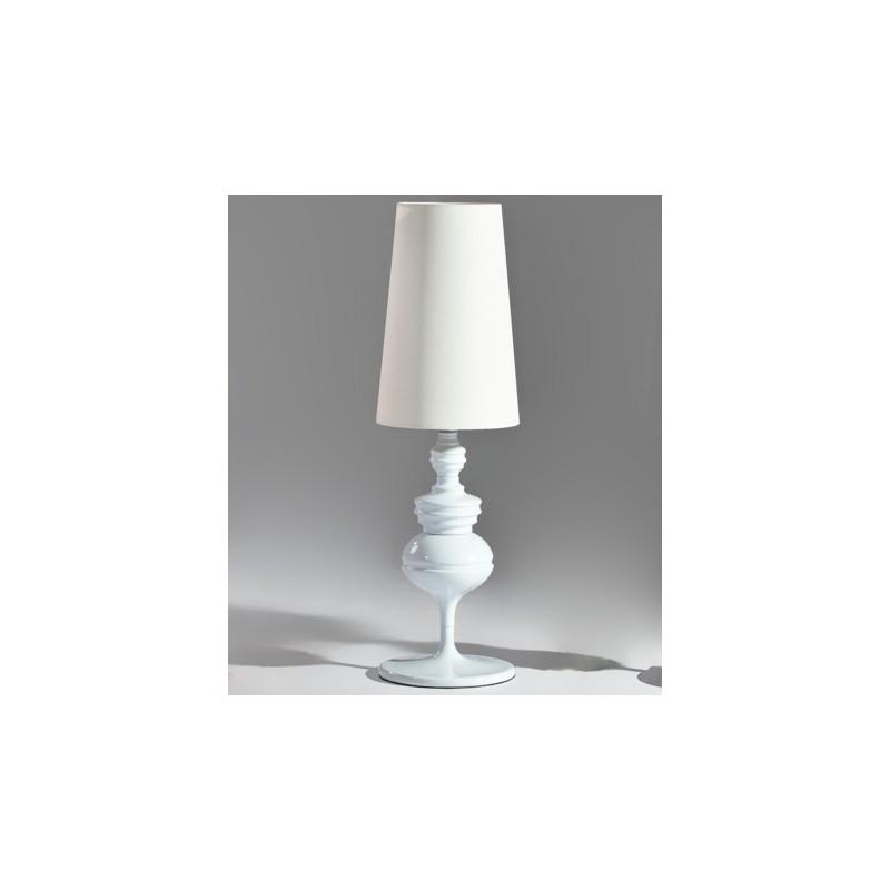 Lámpara CHOISY-TP sobremesa de diseño cromada con pantalla plateada