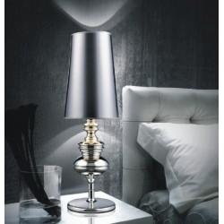 Lámpara  LOUVRE-MP sobremesa de diseño con pantalla plateada