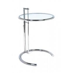 Mesa de diseño EG fabricada en cristal regulable en altura