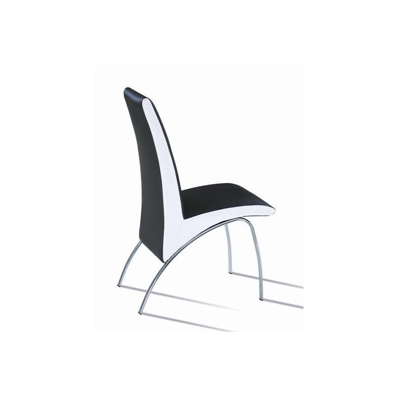 Silla AUGUSTA-NB con tapizado en similpiel negra