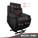 Sillón de masaje con mando Lift con reclinación y función levantapersonas ECO-749UP
