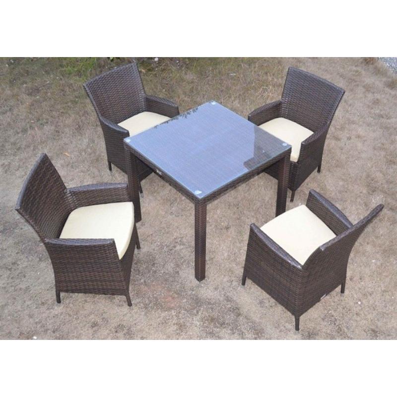 Conjunto de jard n 4 sillones mesa fabricados en for Conjunto jardin aluminio