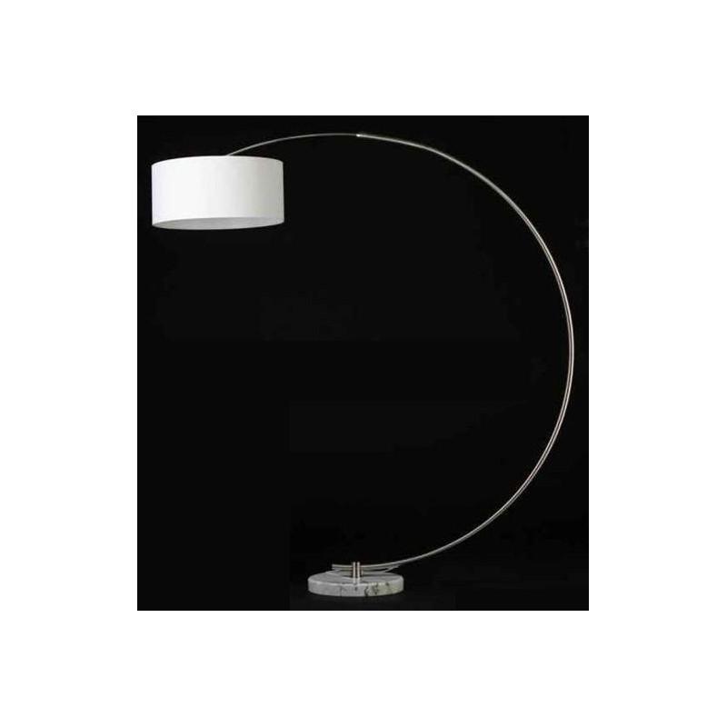 L mpara dial de pi cromada con base de m rmol blanco y for Marmol blanco con vetas negras