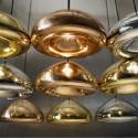Lámpara ALIOTH colgante fabricada en cristal color bronce