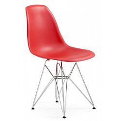 Silla TOWER fabricada en ABS color rojo