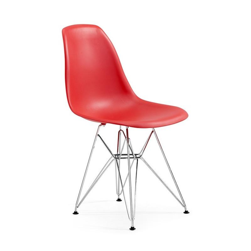 Silla TOWER fabricada en ABS color rojo