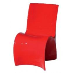 Silla monoblock de diseño fabricada en polipropileno rojo