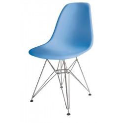 Silla TOWER fabricada en ABS color azul celeste