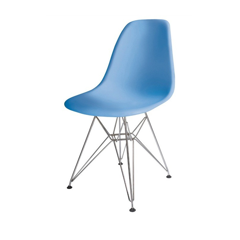 Silla TOWER fabricada en ABS color azul celeste