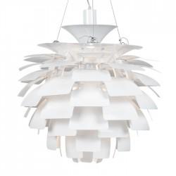Lámpara ARTIC 60 cms de diámetro fabricada en aluminio de color blanco