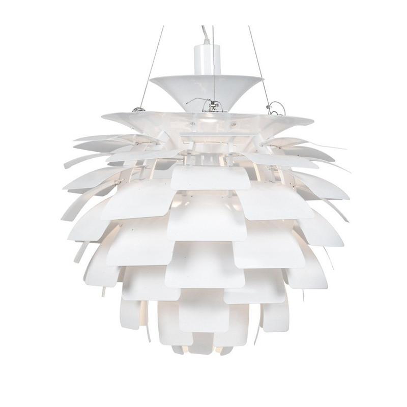 Lámpara ARTIC 70 cms de diámetro fabricada en aluminio de color blanco