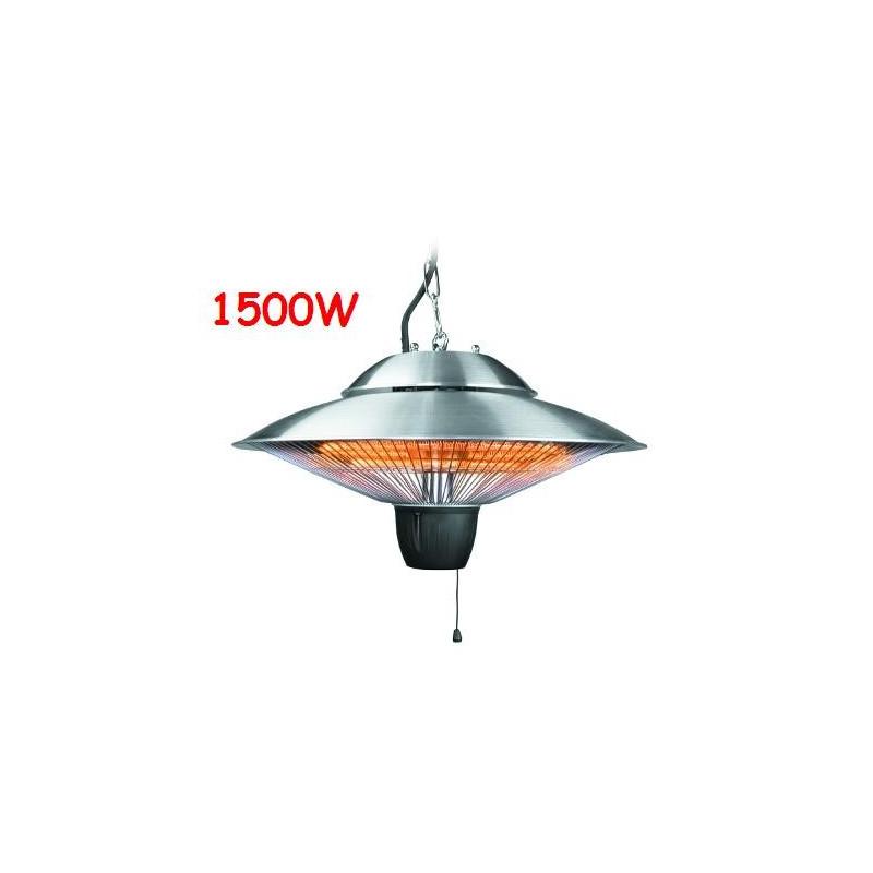 Estufa para exterior halógena e infrarroja 1500 watios