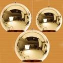 Lámpara HUGO colgante de cristal dorado