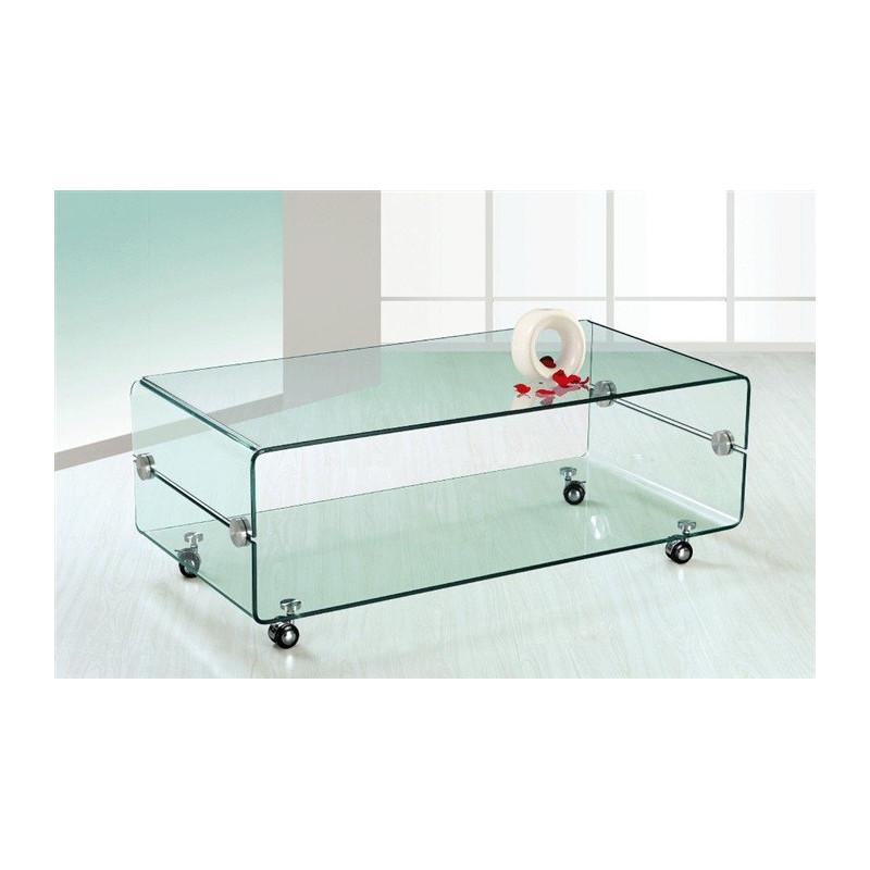 Mesa de centro curvada fabricada 100 en cristal templado for Mesa cristal 100 x 50