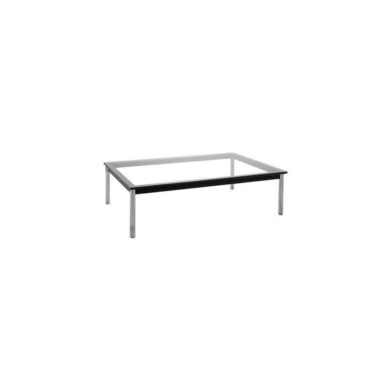 Mesa lecor baja rectangular con tapa de cristal 120x80 cms - Mesa baja cristal ...