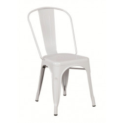 Silla TOL de acero color blanco