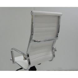 Sillón de oficina BARI-A  basculante similpiel blanco