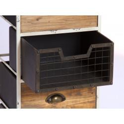 Mueble auxiliar bicolor de estilo vintage con 4 cajones