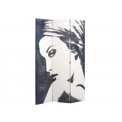 Biombo mujer en blanco y negro