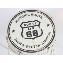 Taburete Vintage Route 66