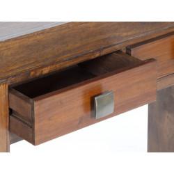 Consola en madera natural de mindi