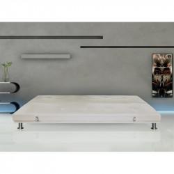 Sofá cama de diseño sistema clic-clac en simil cuero