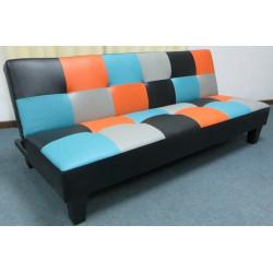 Sofá cama polipiel cuadros  sistema clic-clac