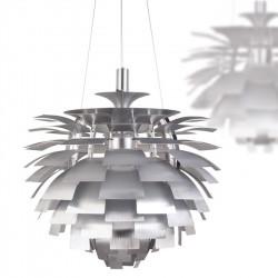 Lámpara ARTIC 60 cms de diámetro fabricada en aluminio de color plata