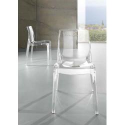 Silla FEZ-TR fabricado en policarbonato transparente