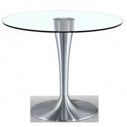 Mesa  Itingen - Aluminio y cristal templado 120 cm