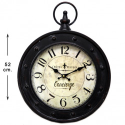 Reloj de pared metal Concierge