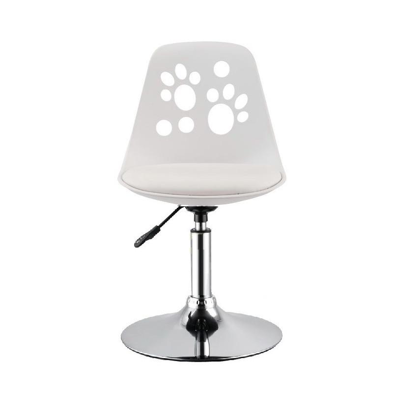 Silla arad bl polipropileno y cojin blanco for Cojin silla oficina