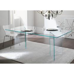 Mesa de cristal  OTISH-TR  180 x 90 cms