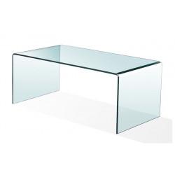 Mesa Cheval de cristal templado y curvado