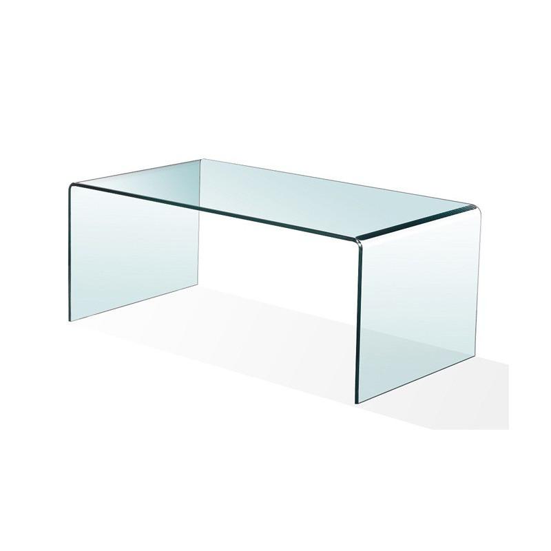Mesa cheval de cristal curvado de 10 mm - Cristal para mesa ...