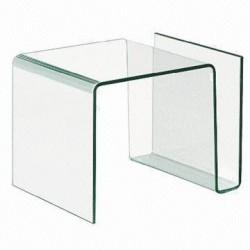 Mesa de centro Atlantis de cristal templado y curvado