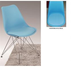 Silla TOW fabricada en ABS color azul celeste