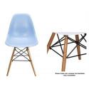 Silla TORREIFFEL-AC, madera, ABS azul celeste