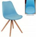 Silla TOW polipropileno azul con cojin