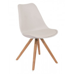 Silla TOW-W4P-BB de madera color blanco