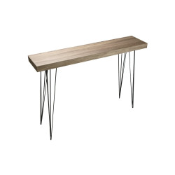 Consola madera y metal  Dallas Roble