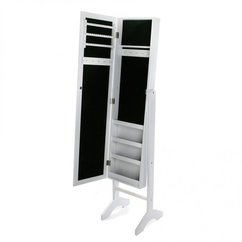 Espejo vestidor de pie con joyero