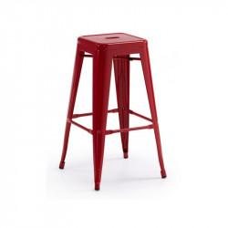 Taburete estilo Tolix color rojo