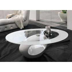 Mesa negra de diseño con base en fibra de vidrio