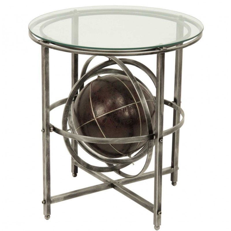 Mesa auxiliar globo terraqueo  60x60x66 cm
