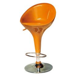 Taburete naranja de diseño en abs inyectado