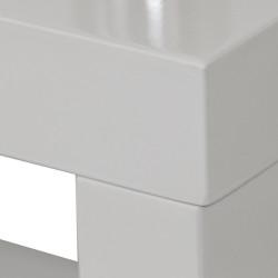 Mueble TV - Estantería lacado blanco y acero