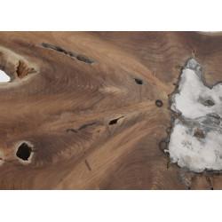 Consola de tronco en madera natural